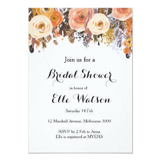 Herbst-Fallblumenchic-Brautparty-Einladung Karte