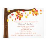 Herbst-fallende Blätter-Verlobungs-Party Einladung