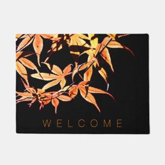 Herbst-Farbahorn-willkommene Tür-Matte Türmatte