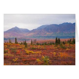 Herbst-Farben in Denali Nationalpark, Alaska Karte