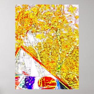 Herbst-Farben in der Einsamkeit Poster