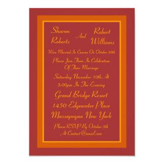 Herbst-Farbposten-Hochzeits-Einladung Karte
