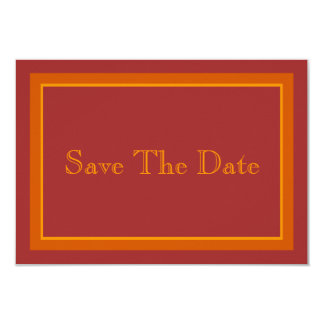 Herbst-FarbSave the Date Karte