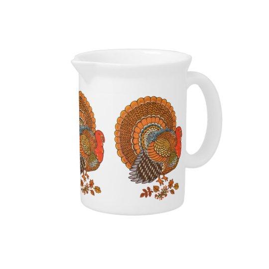 Herbst färbt die Türkei-Blätter-Erntedank Krüge