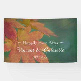 Herbst färbt Hochzeit Banner