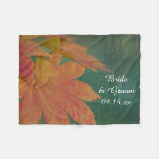 Herbst färbt Hochzeit Fleecedecke