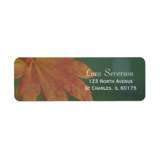 Herbst färbt Rücksendeadresse