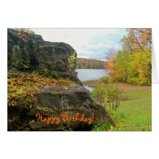 Herbst-Felsen-bester Freund-Geburtstags-Karte Karte