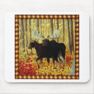 Herbst-Feuer Mousepad