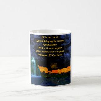Herbst flammt Poesie 11 Unze. Klassische Kaffeetasse