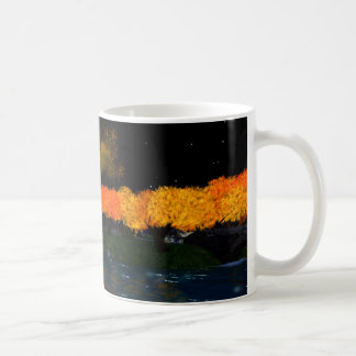 Herbst flammt Weiß 11 Unze. Klassische Kaffeetasse