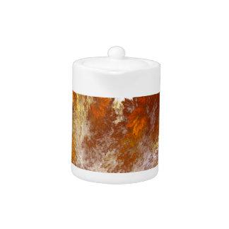 Herbst-Fraktal-Spray entwarf Teekanne