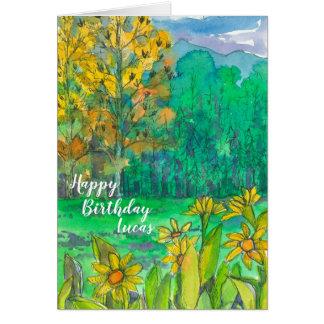 Herbst-Gebirgswiesen-alles Gute zum Geburtstag Karte