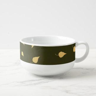 Herbst-Gold verlässt Muster Große Suppentasse