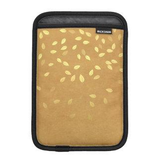 Herbst-Gold verlässt Muster iPad Mini Sleeve