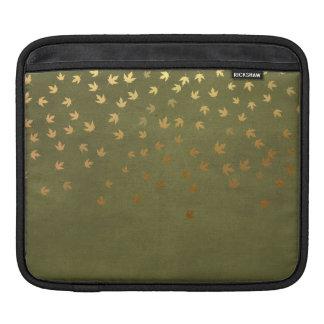 Herbst-Gold verlässt Muster iPad Sleeve