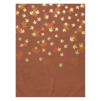 Herbst-Gold verlässt Muster Tischdecke