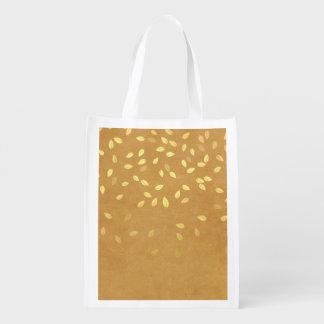 Herbst-Gold verlässt Muster Wiederverwendbare Einkaufstasche