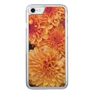 "Herbst-goldene Mamas ""Chrysanthemen "" Carved iPhone 8/7 Hülle"
