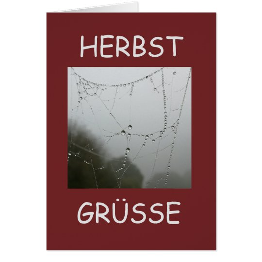 Herbst Grüsse Karte