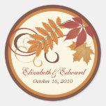 Herbst-Herbstlaub des Runder Sticker