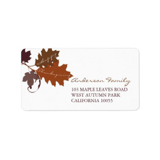 Herbst-Herbstlaub-Erntedank-Adressen-Etiketten Adressaufkleber