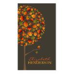 Herbst-Herbstlaub-Pop-Baum-Natur-Geschäfts-Karte Visitenkarten Vorlage