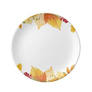 Herbst-Herbstlaub Teller