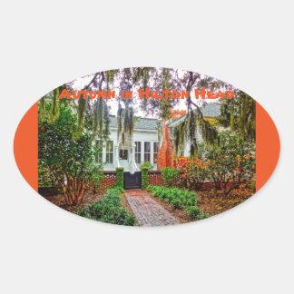 Herbst Hilton Head im Küstenentdeckungs-Museum HHI Ovaler Aufkleber
