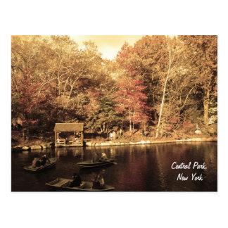 Herbst im Central Park Postkarte