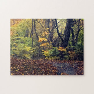 Herbst im Holz Puzzle