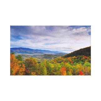 Herbst im Smokies Leinwanddruck