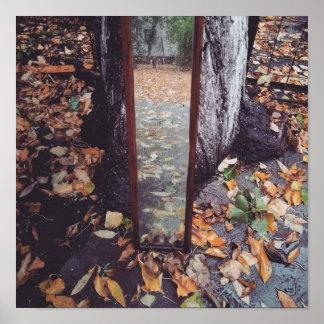 Herbst im Spiegel Poster