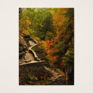 Herbst im Treman Staats-Park Visitenkarte