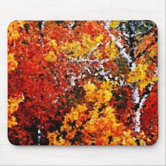 Herbst im Wald - Malerei-Kunst Mousepad