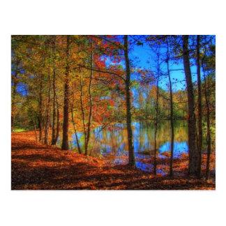 Herbst in dem See Postkarte
