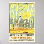 Herbst in der Dünen-Südufer-Linie Plakatdrucke