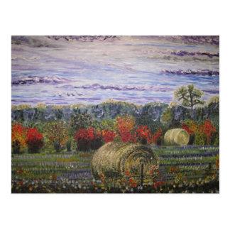 Herbst in der Landpostkarte Postkarte