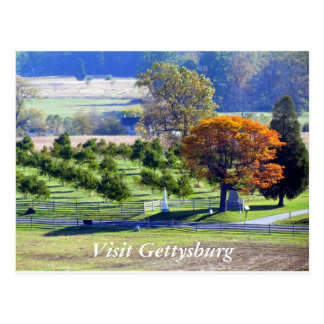 Herbst in Gettysburg Postkarte