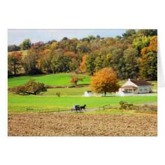 Herbst in Lancaster County, PA Karte
