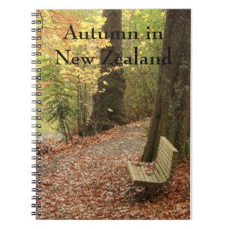 Herbst in Neuseeland-Notizbuch Notizblock