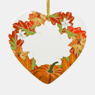 Herbst-Kranz Keramik Ornament
