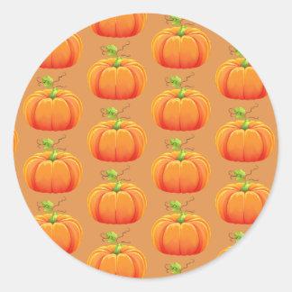 Herbst-Kürbis-Aufkleber Runder Aufkleber