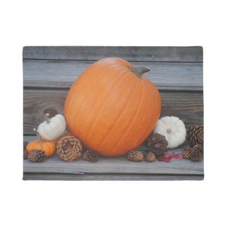 Herbst-Kürbis und Pinecones Fußmatte Türmatte