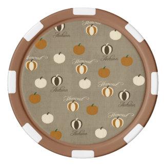 Herbst-Kürbise Poker Chips