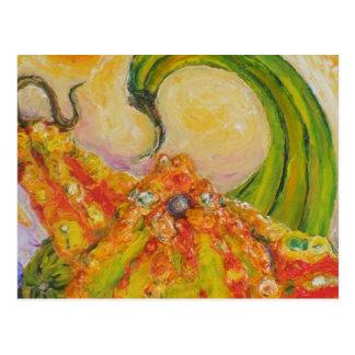 Herbst-Kürbisse Postkarte