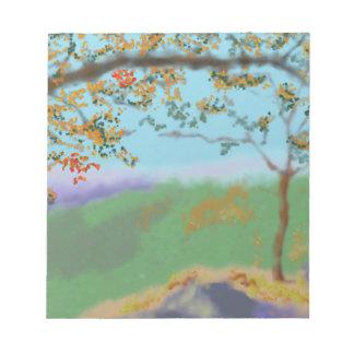Herbst-Land-Kunst Notizblock