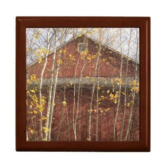 Herbst-Land-Scheune Geschenkbox