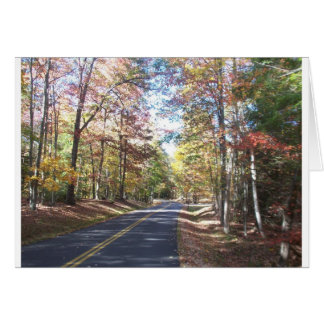 Herbst-Land-Straße Karte
