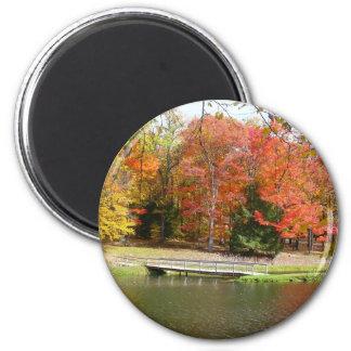 Herbst-Landschaft der sieben Runder Magnet 5,1 Cm